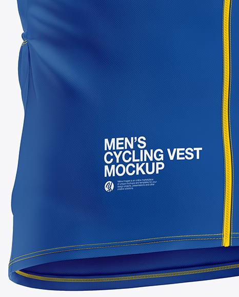 Men's Cycling Vest Mockup