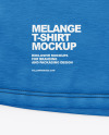 Melange T-Shirt With Label Mockup