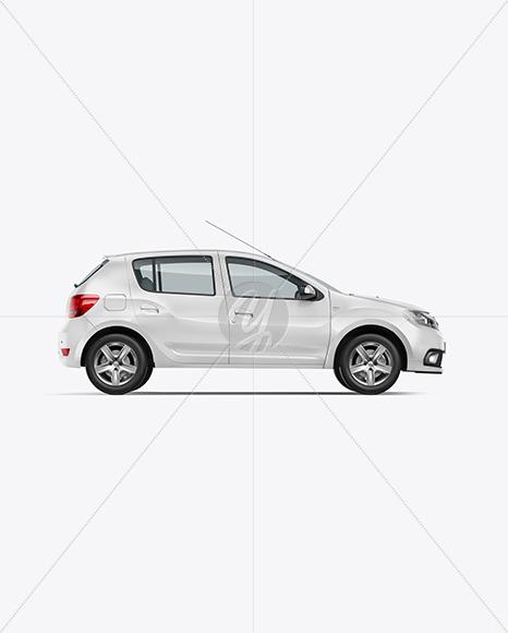 Hatchback Mockup - Side View