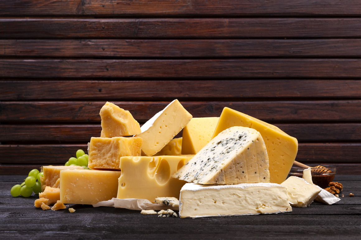 Cheese backgrounds with copy space