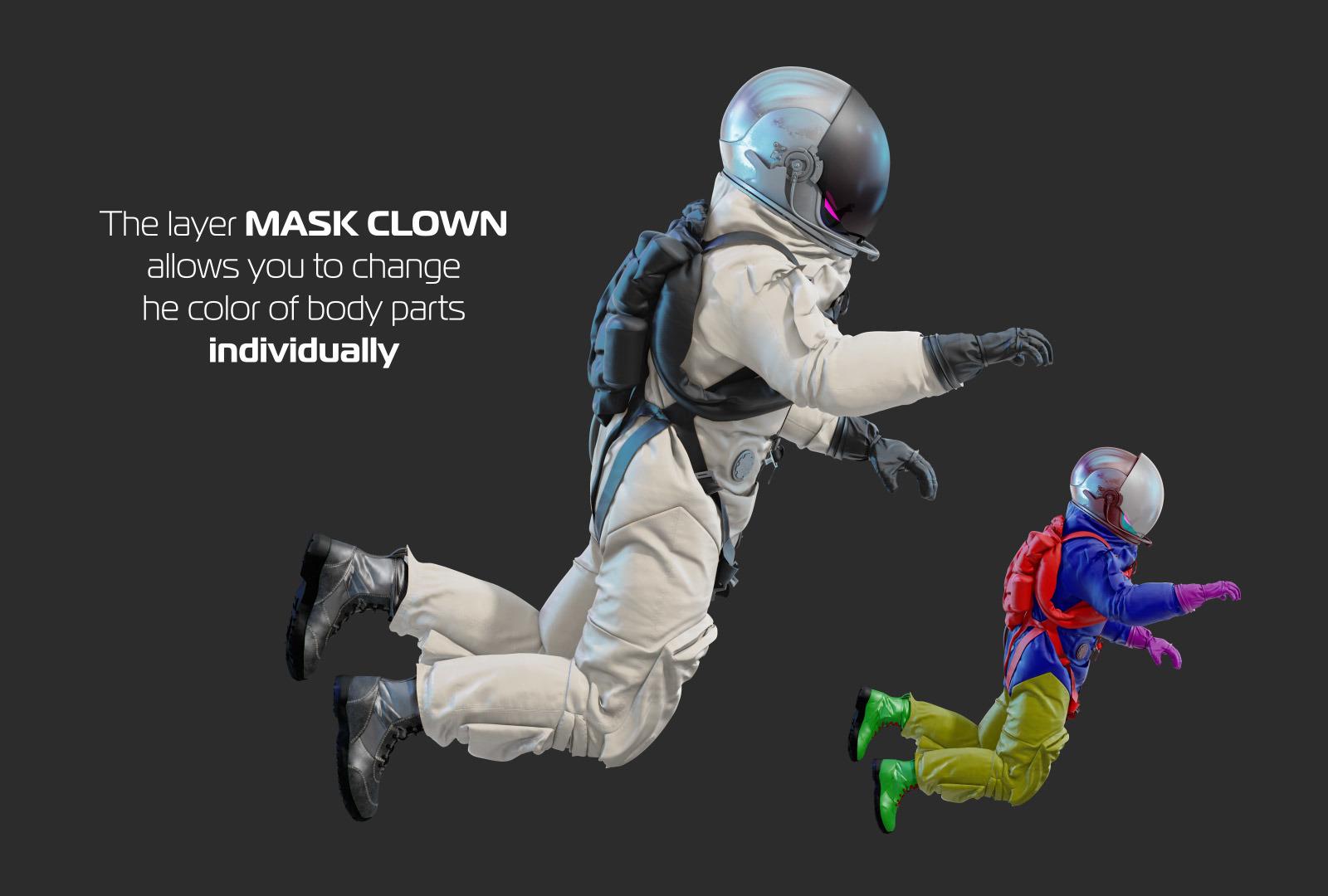 PSD Mockup 3D model NASA Astronaut #02