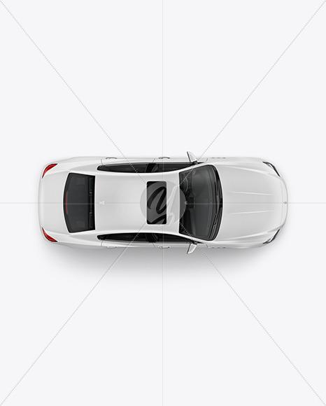 Luxury Sedan Mockup - Top View - Yellowimages Mockups
