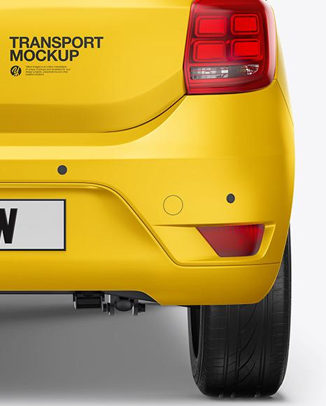 Hatchback Mockup - Back View