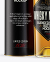 Clear Glass Whiskey Bottle with Tube Mockup
