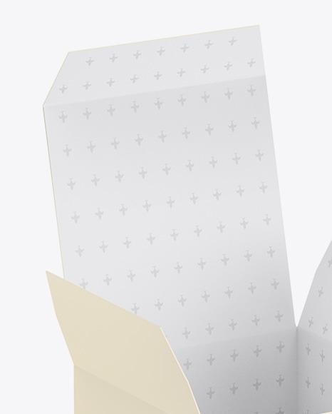 Paper Box W/ Candle Mockup